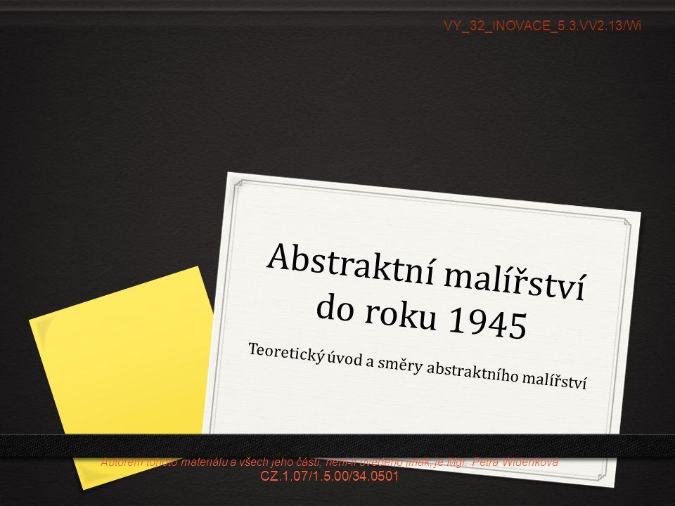Abstraktní malířství do roku 1945