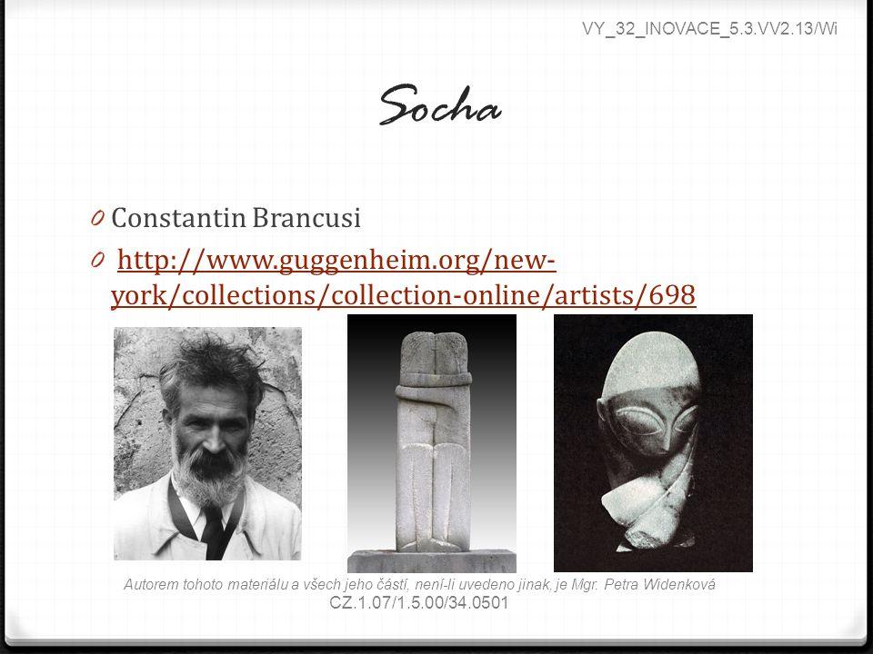 Socha Constantin Brancusi
