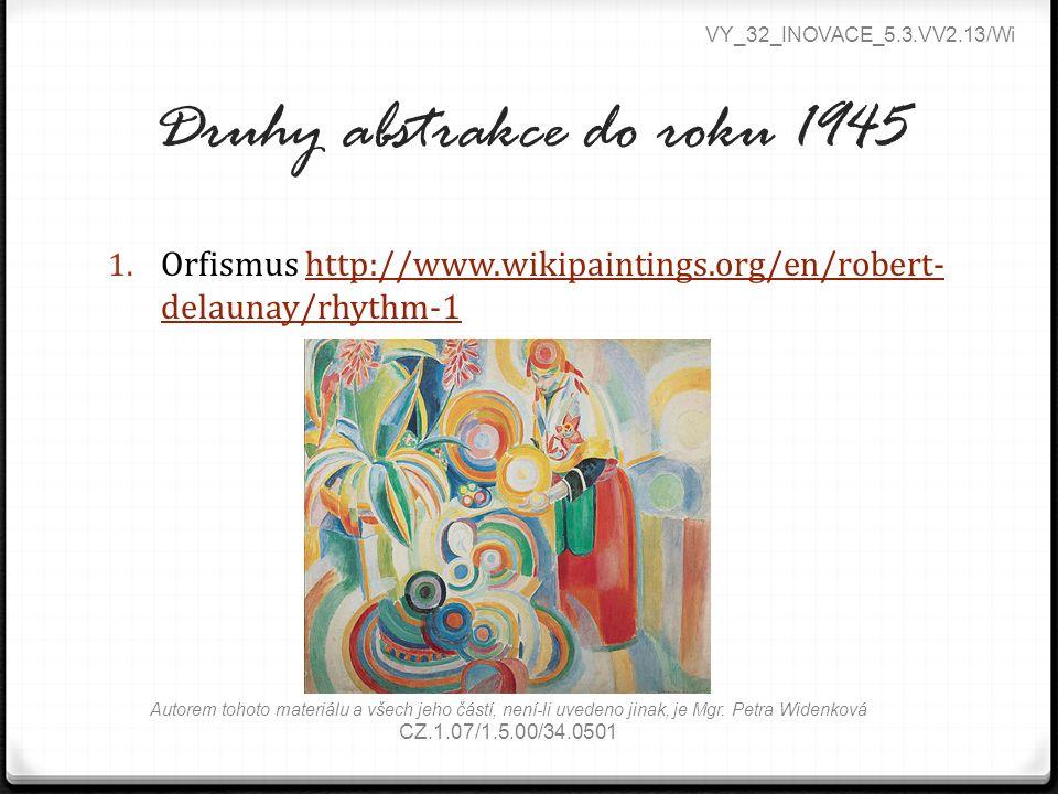 Druhy abstrakce do roku 1945