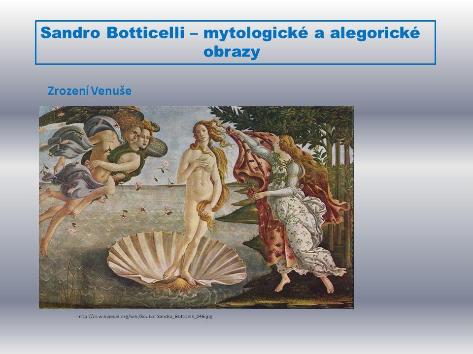 Sandro Botticelli – mytologické a alegorické obrazy