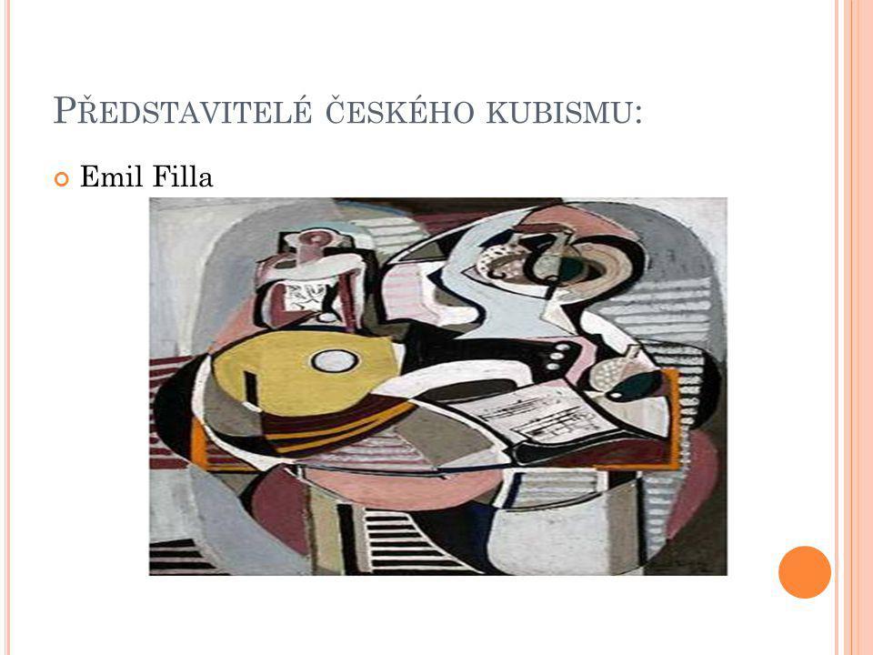 Představitelé českého kubismu: