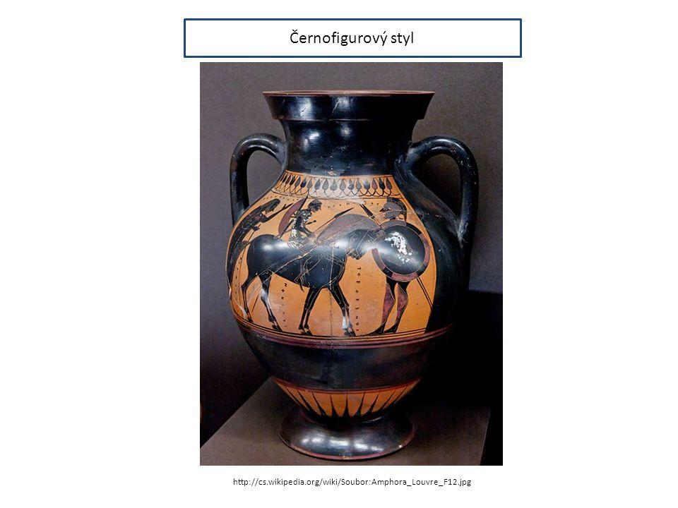 Černofigurový styl http://cs.wikipedia.org/wiki/Soubor:Amphora_Louvre_F12.jpg