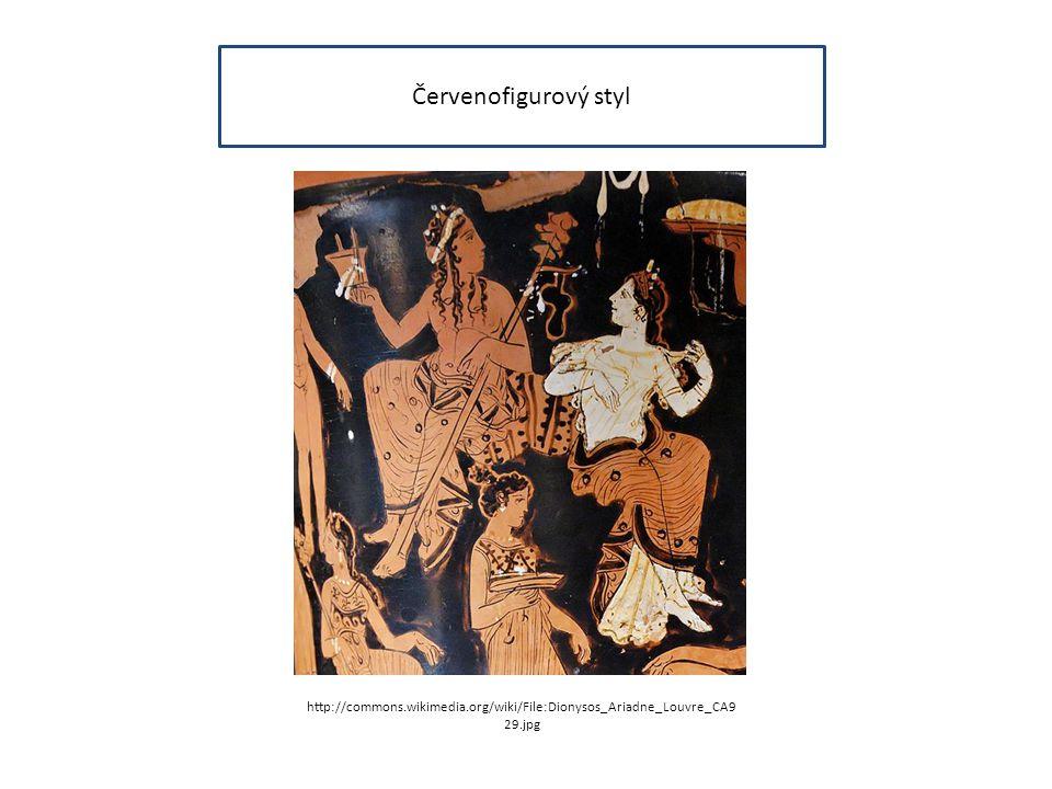 Červenofigurový styl http://commons.wikimedia.org/wiki/File:Dionysos_Ariadne_Louvre_CA929.jpg