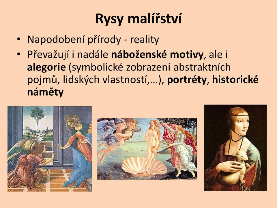 Rysy malířství Napodobení přírody - reality
