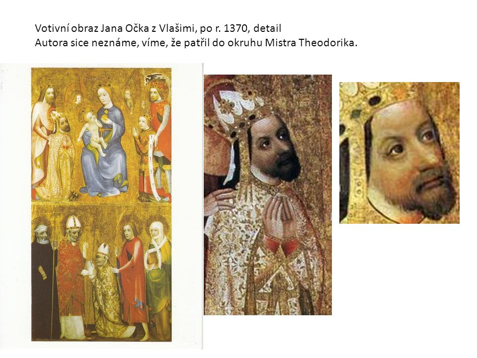 Votivní obraz Jana Očka z Vlašimi, po r. 1370, detail