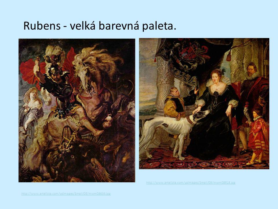Rubens - velká barevná paleta.