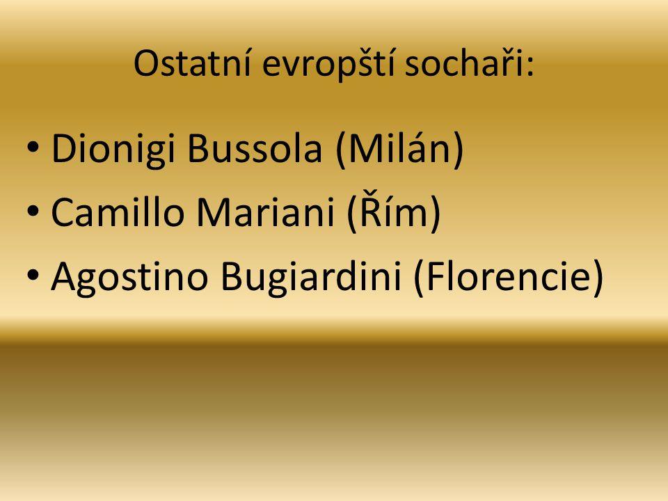 Ostatní evropští sochaři:
