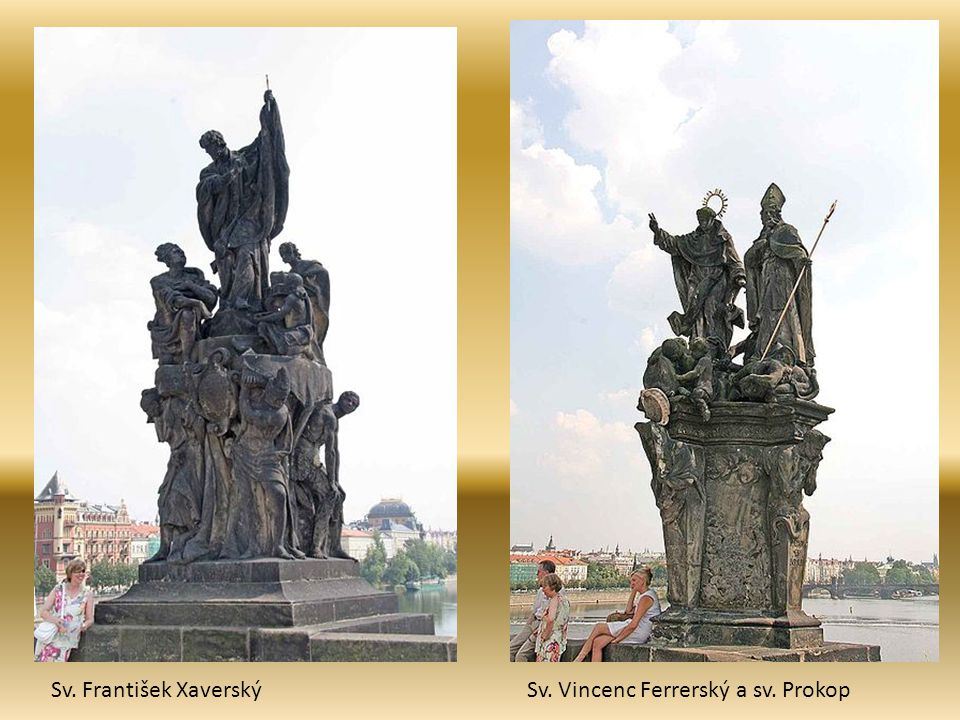 Sv. František Xaverský Sv. Vincenc Ferrerský a sv. Prokop