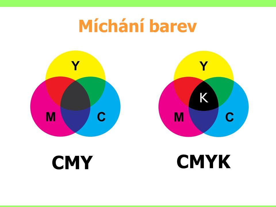 Míchání barev CMY CMYK