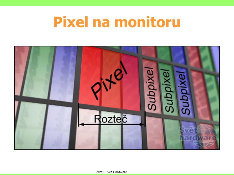 Pixel na monitoru Zdroj: Svět Hardware