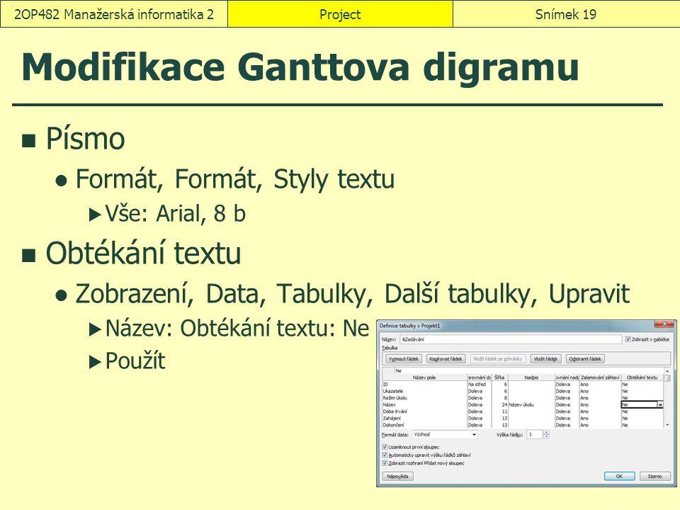 Modifikace Ganttova digramu