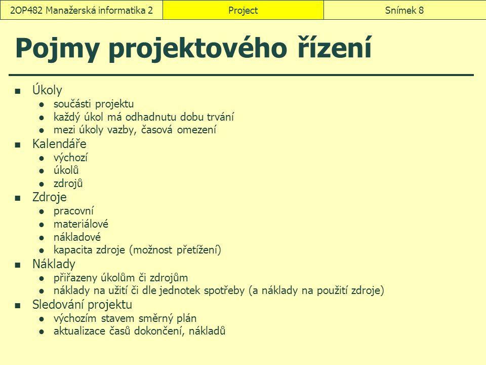 Pojmy projektového řízení