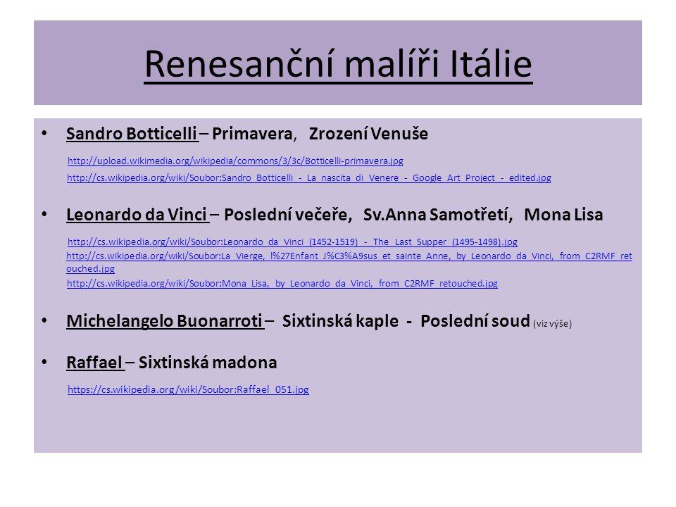 Renesanční malíři Itálie