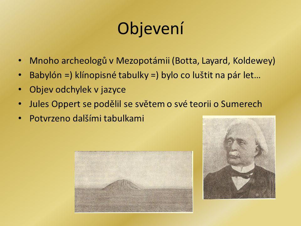 Objevení Mnoho archeologů v Mezopotámii (Botta, Layard, Koldewey)
