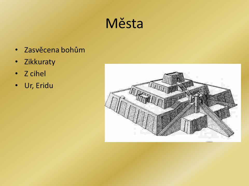 Města Zasvěcena bohům Zikkuraty Z cihel Ur, Eridu