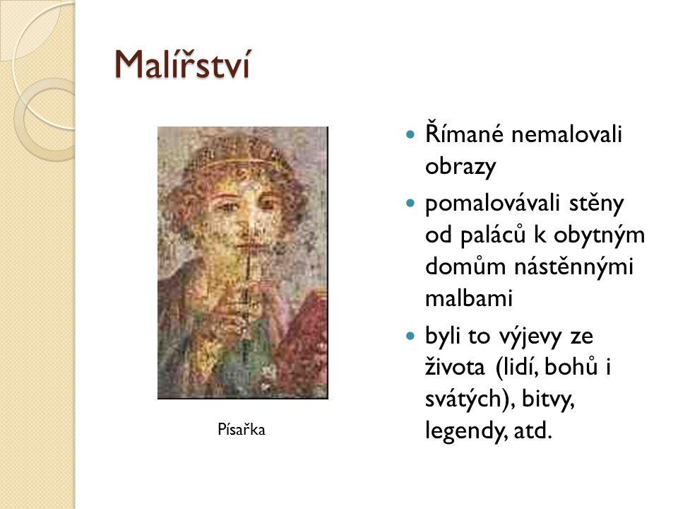 Malířství Římané nemalovali obrazy
