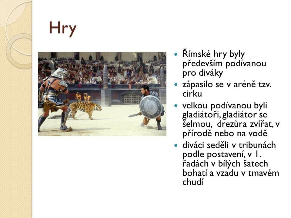 Hry Římské hry byly především podívanou pro diváky