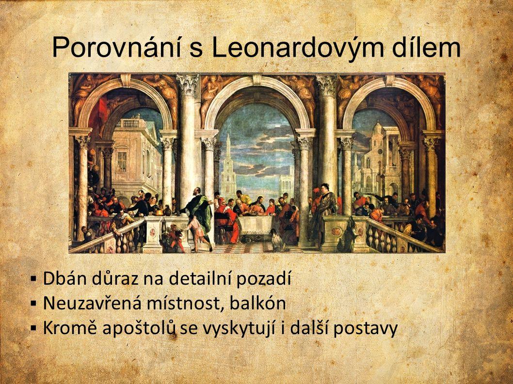 Porovnání s Leonardovým dílem