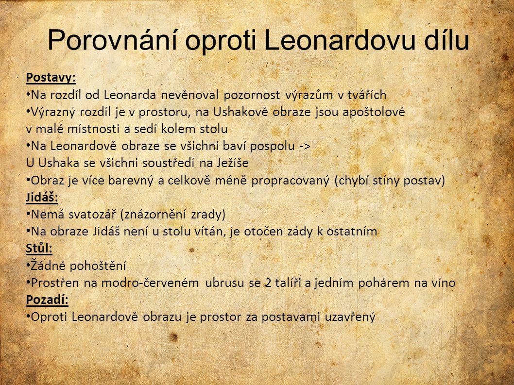 Porovnání oproti Leonardovu dílu
