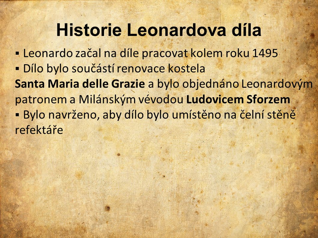 Historie Leonardova díla