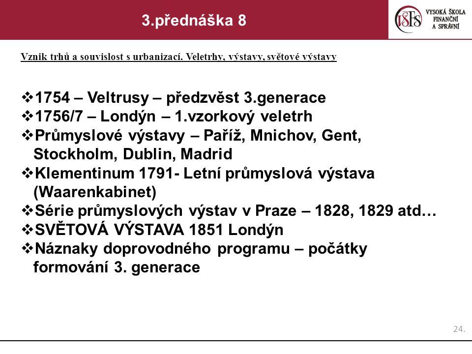 1754 – Veltrusy – předzvěst 3.generace