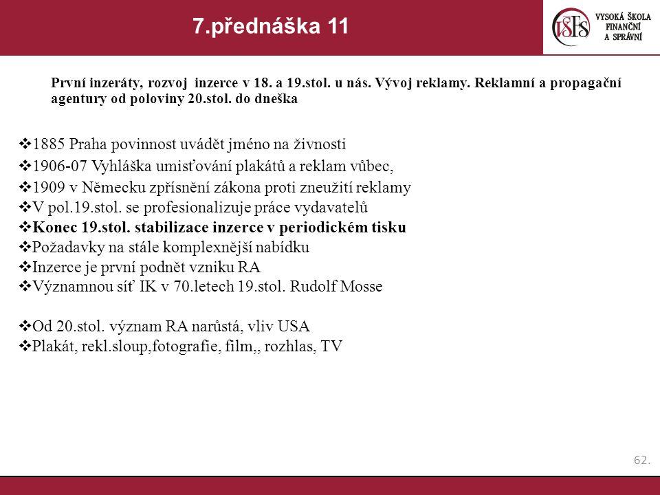 7.přednáška 11 1885 Praha povinnost uvádět jméno na živnosti