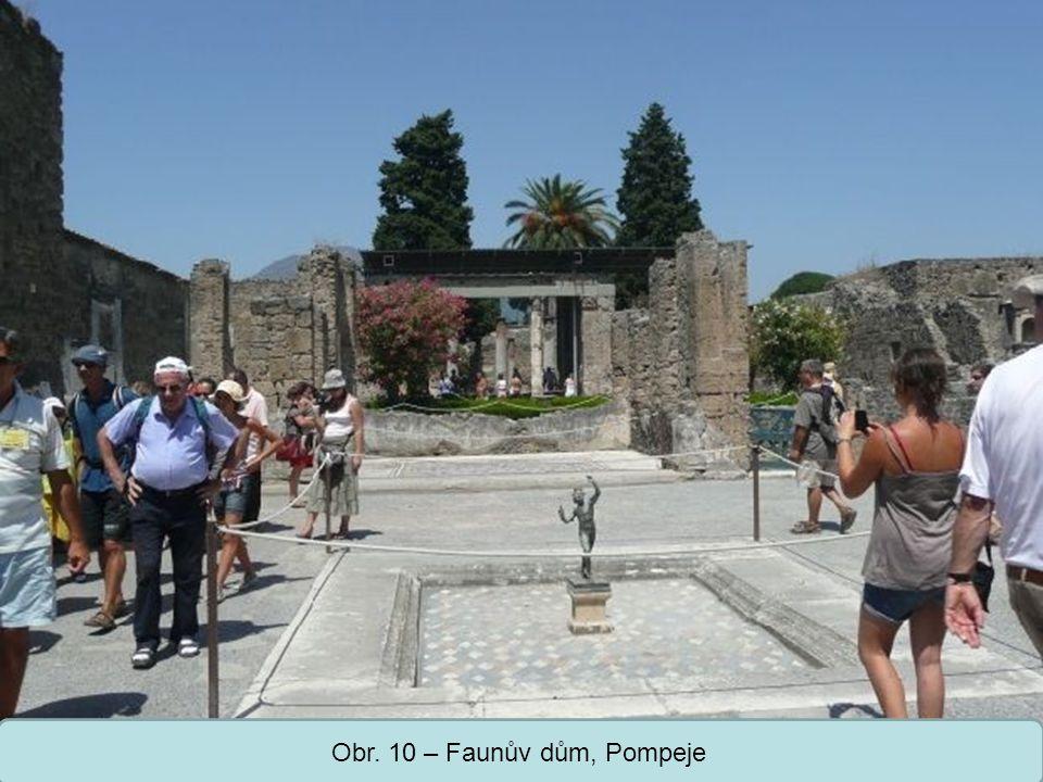 Obr. 10 – Faunův dům, Pompeje