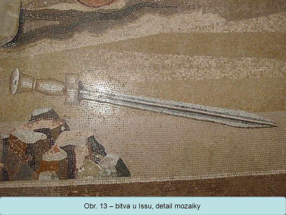 Obr. 13 – bitva u Issu, detail mozaiky