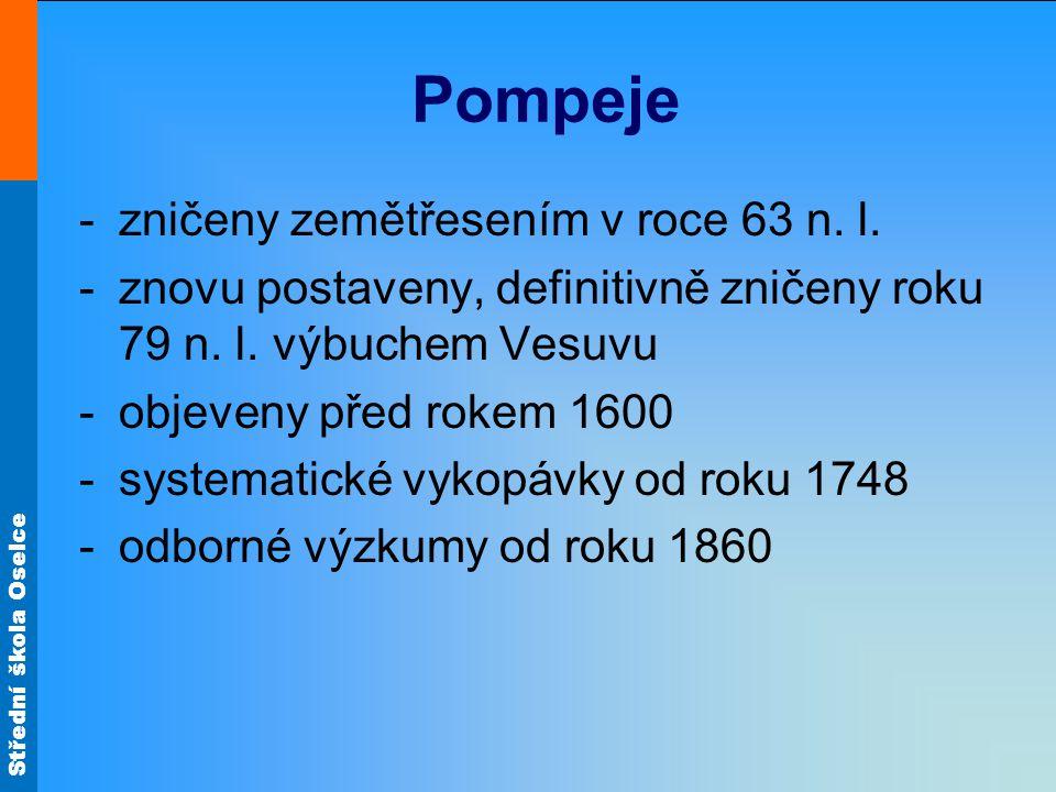 Pompeje zničeny zemětřesením v roce 63 n. l.