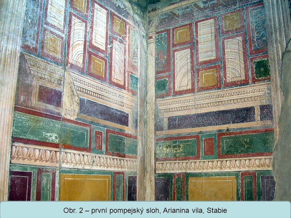 Obr. 2 – první pompejský sloh, Arianina vila, Stabie