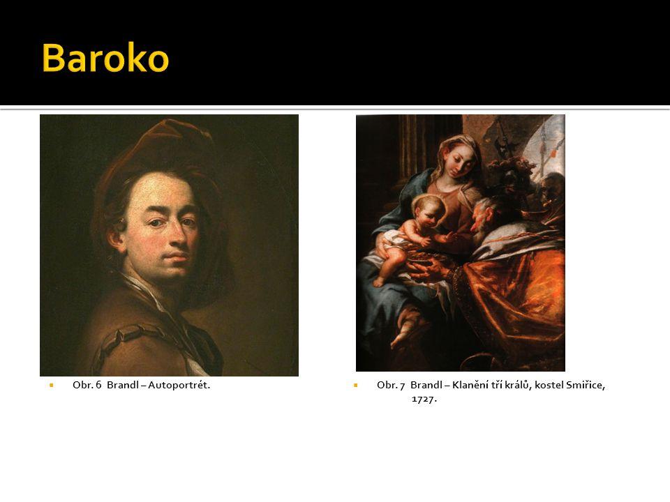 Baroko Obr. 6 Brandl – Autoportrét.