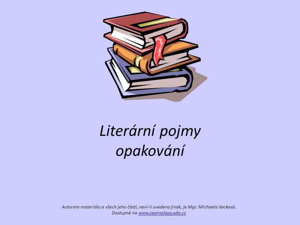 Literární pojmy opakování