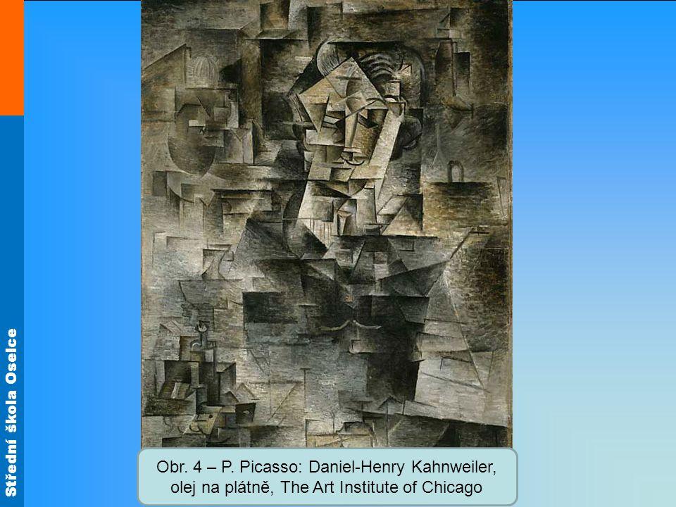 Obr. 4 – P. Picasso: Daniel-Henry Kahnweiler, olej na plátně, The Art Institute of Chicago