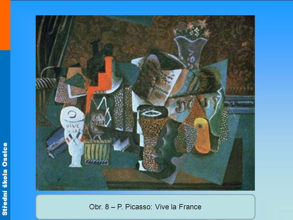 Obr. 8 – P. Picasso: Vive la France