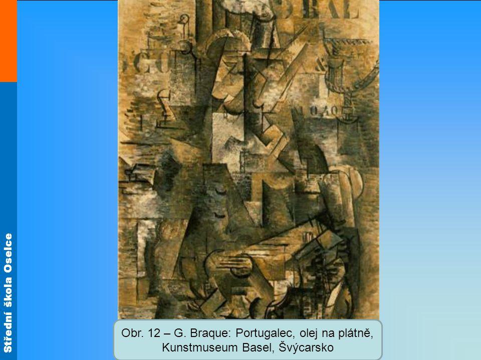 Obr. 12 – G. Braque: Portugalec, olej na plátně, Kunstmuseum Basel, Švýcarsko