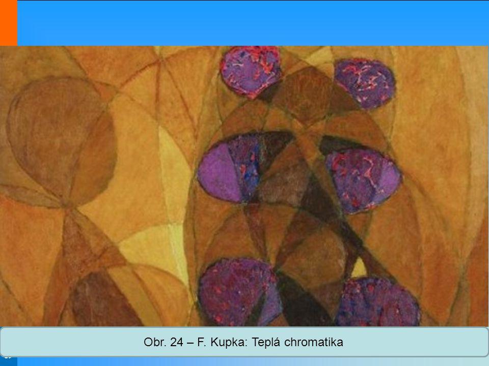 Obr. 24 – F. Kupka: Teplá chromatika