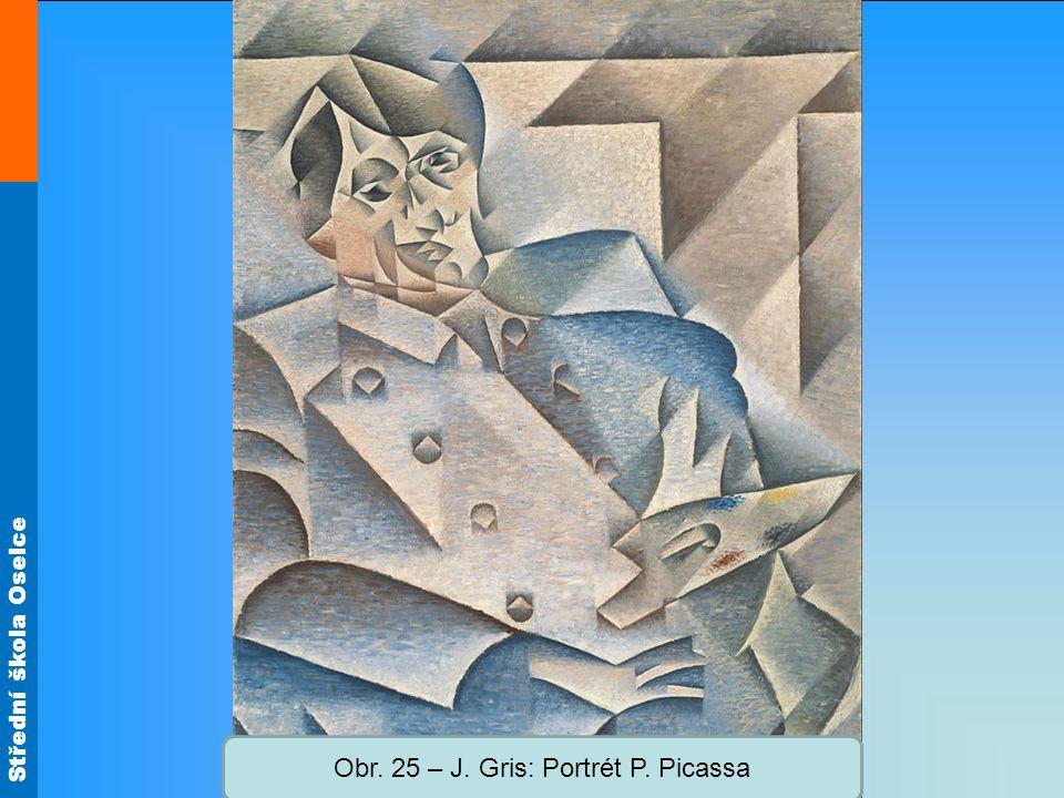 Obr. 25 – J. Gris: Portrét P. Picassa