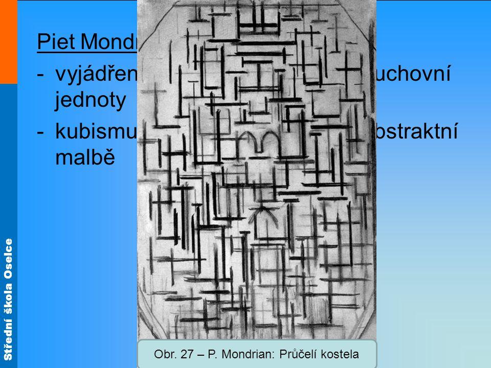 Obr. 27 – P. Mondrian: Průčelí kostela