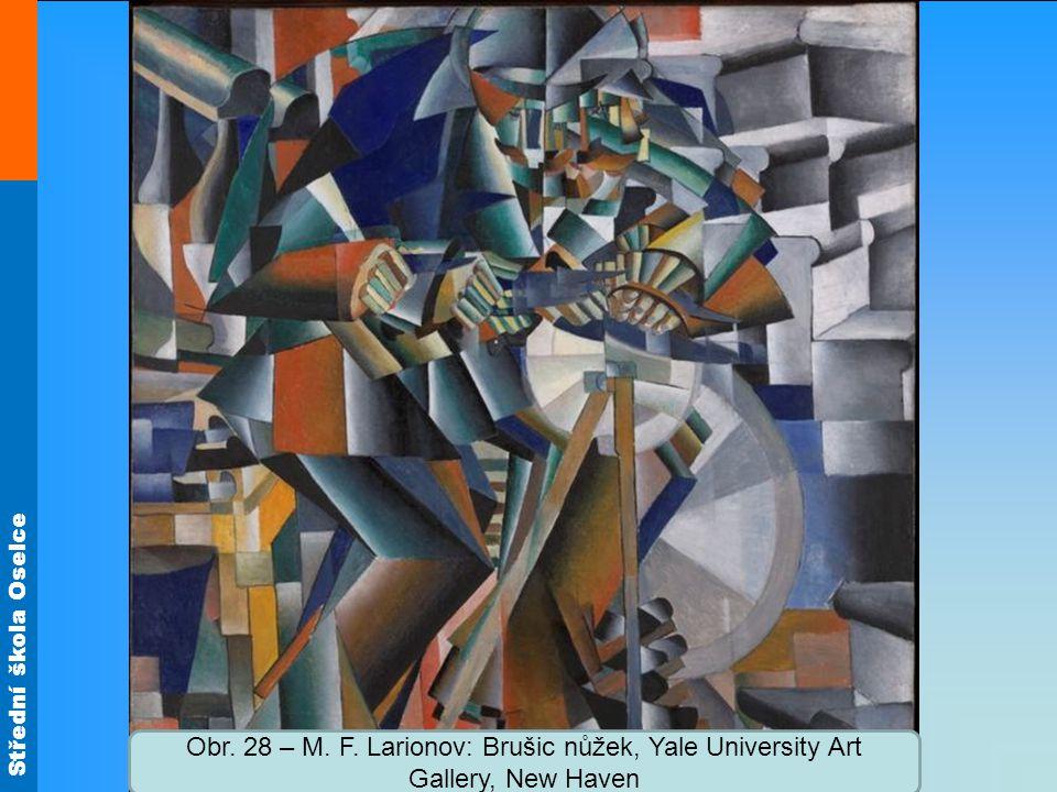 Obr. 28 – M. F. Larionov: Brušic nůžek, Yale University Art Gallery, New Haven