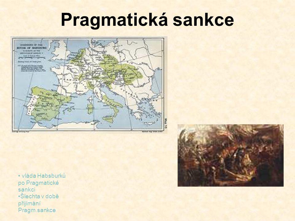 Pragmatická sankce vláda Habsburků po Pragmatické sankci
