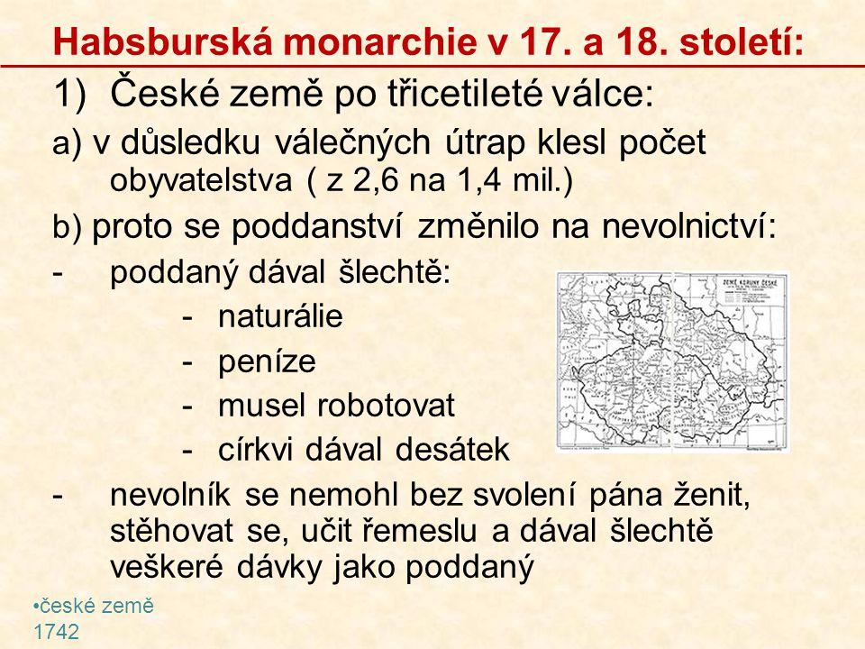 Habsburská monarchie v 17. a 18. století:
