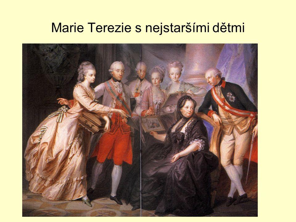 Marie Terezie s nejstaršími dětmi