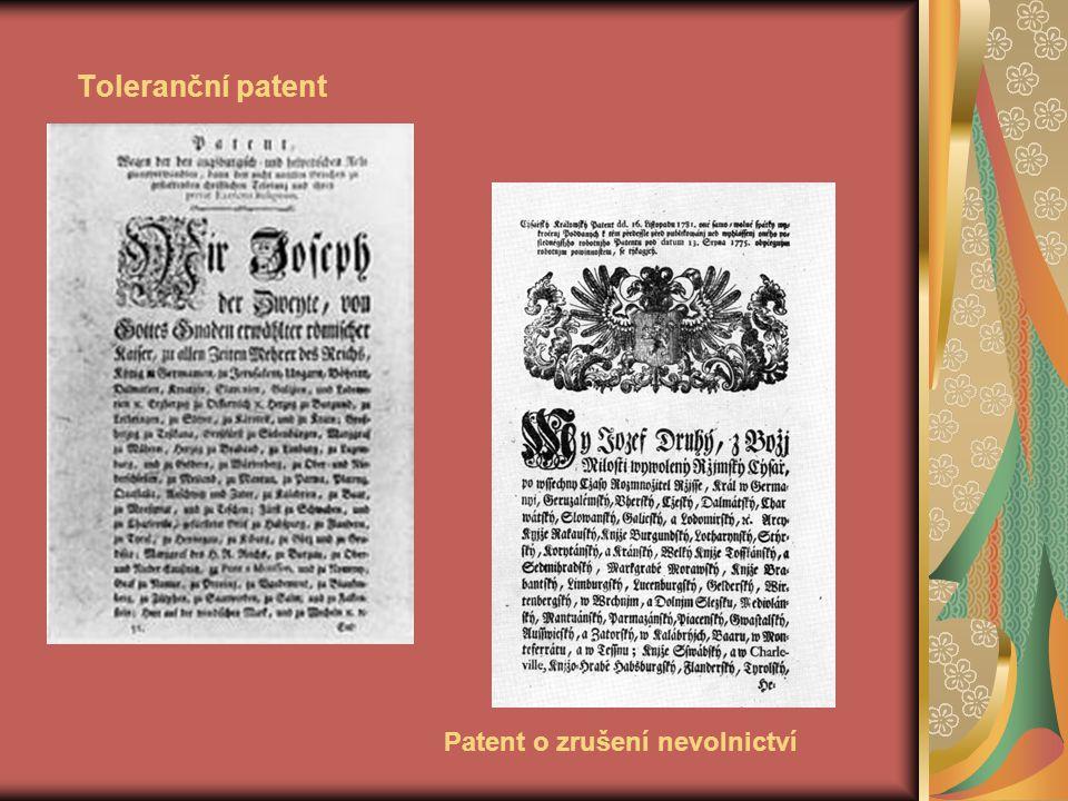 Toleranční patent Patent o zrušení nevolnictví