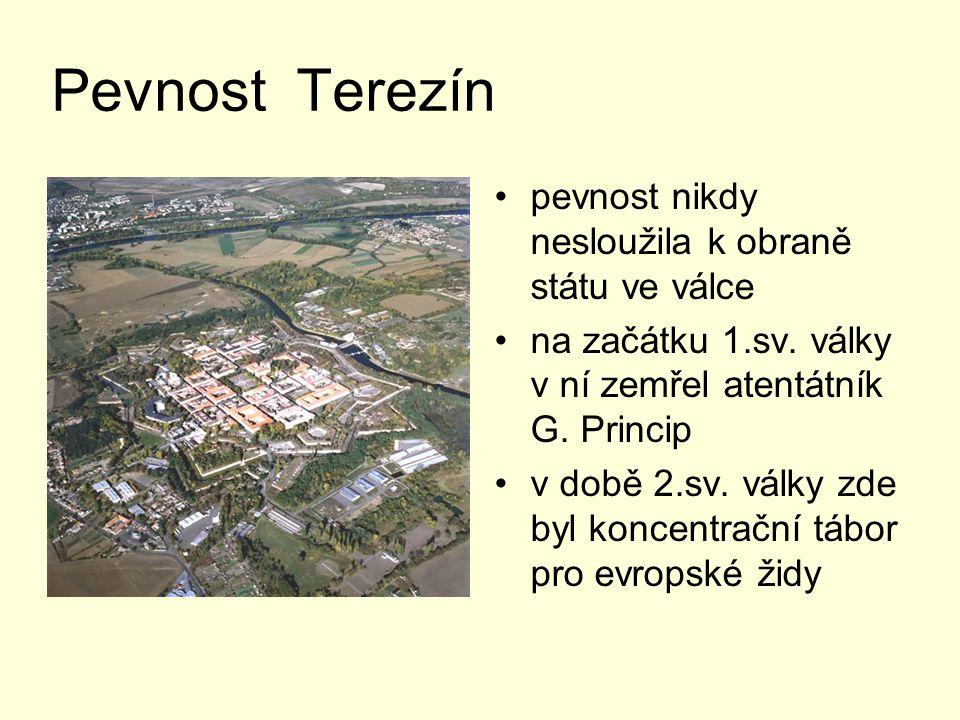 Pevnost Terezín pevnost nikdy nesloužila k obraně státu ve válce