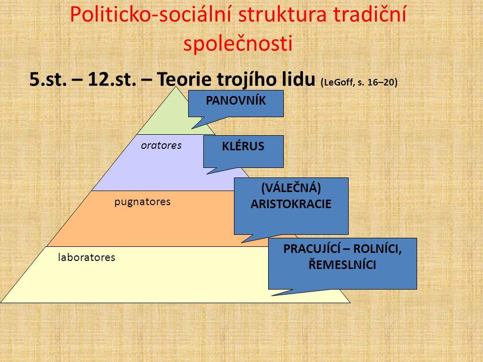 Politicko-sociální struktura tradiční společnosti