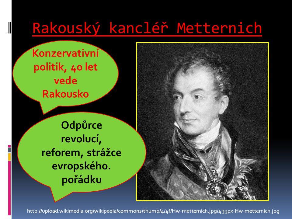 Rakouský kancléř Metternich