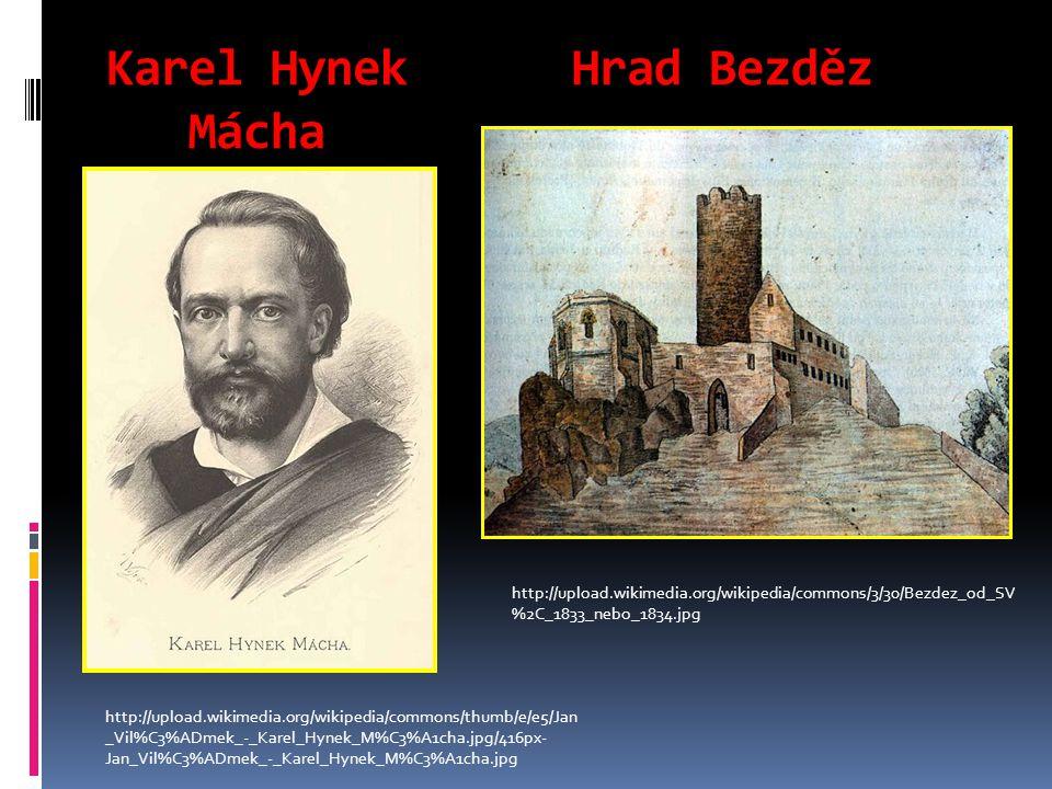 Karel Hynek Hrad Bezděz Mácha