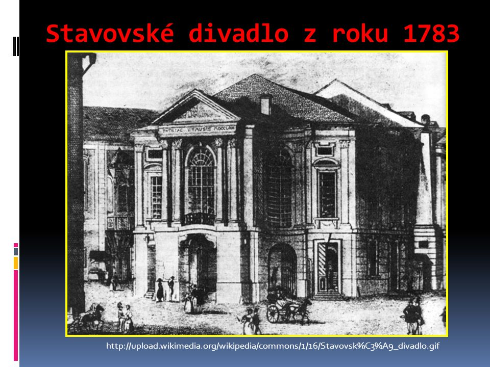 Stavovské divadlo z roku 1783