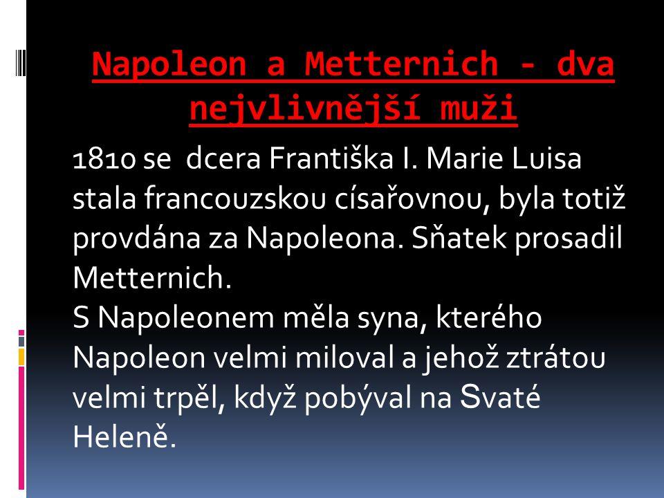 Napoleon a Metternich - dva nejvlivnější muži