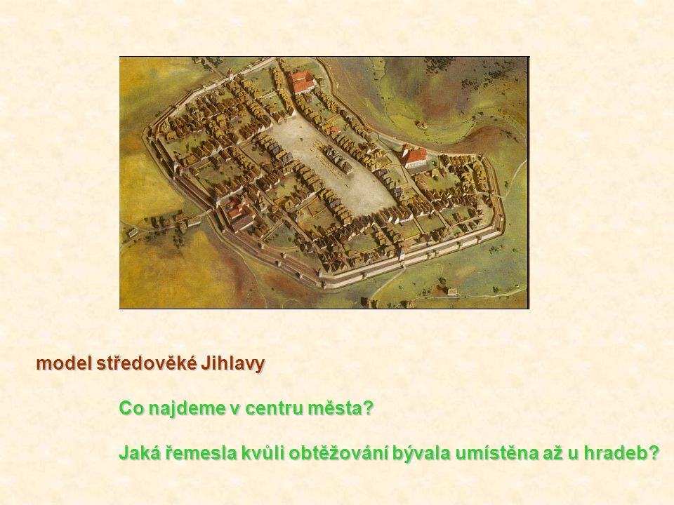 model středověké Jihlavy